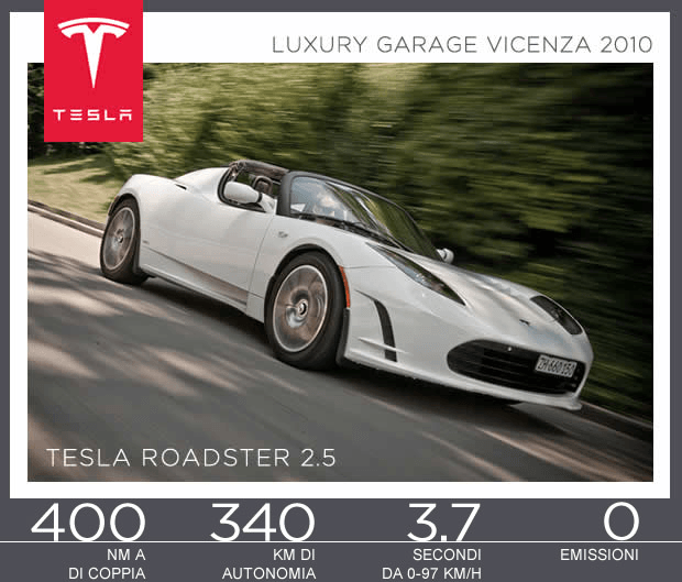 Tesla Motors sarà presente al Luxury Garage di Vicenza