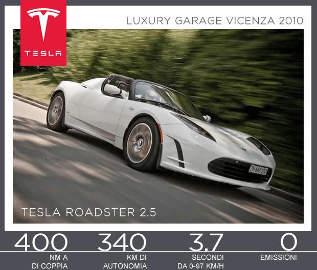 Tesla Motors sarà presente al Luxury Garage di Vicenza