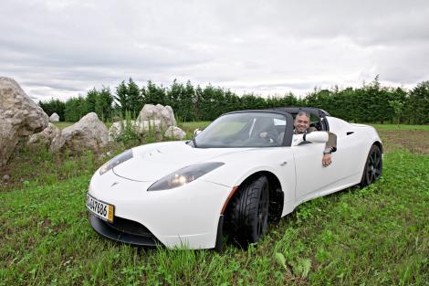 Paolo Vanzetto e la sua Tesla Roadster