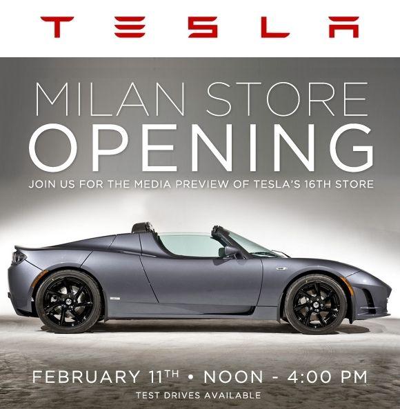 Milan store opening