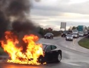 Incendio di una Tesla Model S