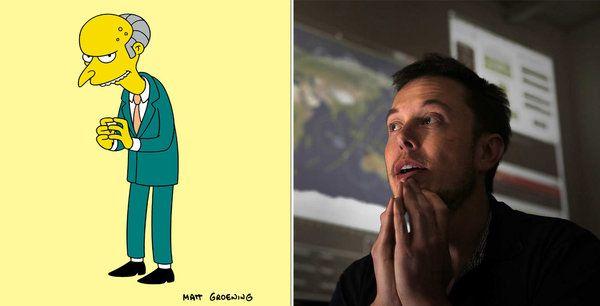 Mr Burns vs Elon Musk