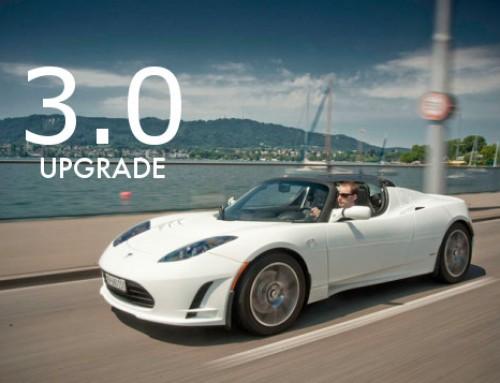 Tesla annuncia l'upgrade Tesla Roadster 3.0