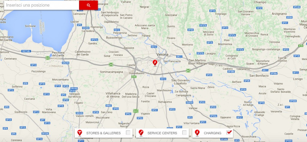 Tesla Supercharger Verona