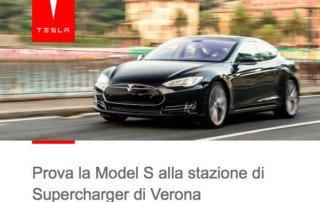 Test Drive della Tesla a Verona