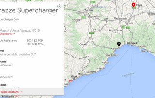 Tesla Supercharger di Varazze a Savona
