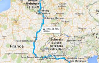 Dalla Toscana all'Olanda con la Tesla Model S