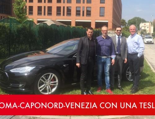 Roma-CapoNord-Venezia a bordo di una Tesla: 10.000 km solo elettrici, oltre 770 cavalli e 0 emissioni. Una missione tutta italiana.