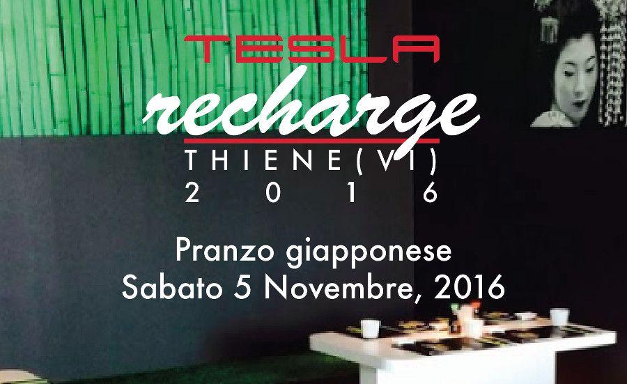 Tesla Recharge 2016 allo Zushi di Thiene (VI)
