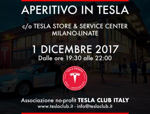 Aperitivo in Tesla il 1 Dicembre: vi aspettiamo
