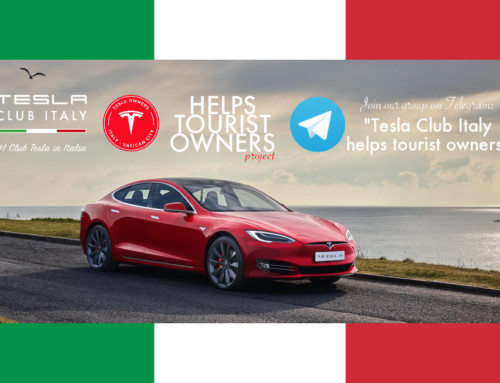 Tesla Club Italy supports Tesla owners travelling around our country. – Il Tesla Club Italy supporta i possessori Tesla stranieri in viaggio nel nostro paese
